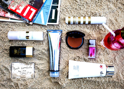 Beach beauty essentials promo