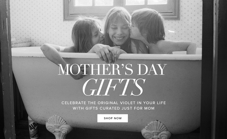 Mothers day left footer promo