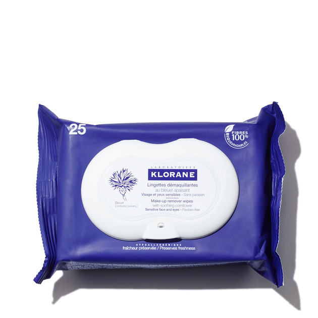 Klorane Make-up Remover Wipes with Soothing Cornflower