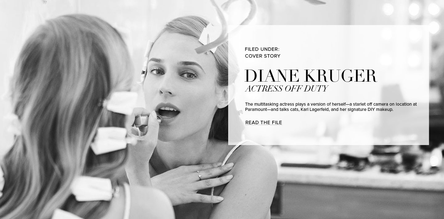 Diane kruger hollywood hair and modern matte lips tvf landing page hero