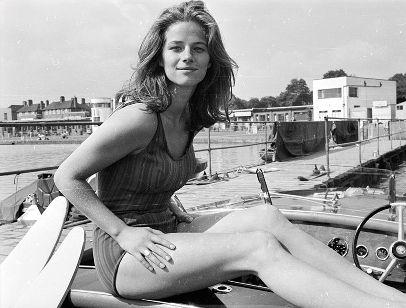 """I did that film just so I could kiss Robert Redford."" —Charlotte Rampling #soviolet  