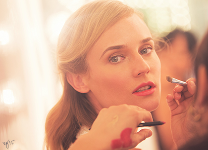 Diane kruger hollywood hair and modern matte lips promo
