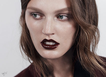 French beauty tutorial the dark lip promo