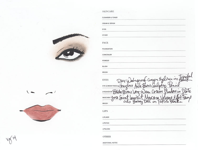 The Smudged Eye Tutorial by Sabrina Bedrani featuring Vanessa Paradis  |  #VioletGrey, The Industry's Beauty Edit