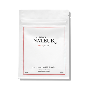 AGENT NATEUR Holi Bath Soothing Hydrating Calming Coconut Milk Bath | @violetgrey