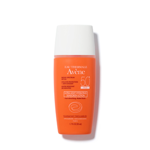 EAU THERMALE AVèNE Ultra-Light Hydrating Sunscreen Lotion SPF 50 for Face | @violetgrey