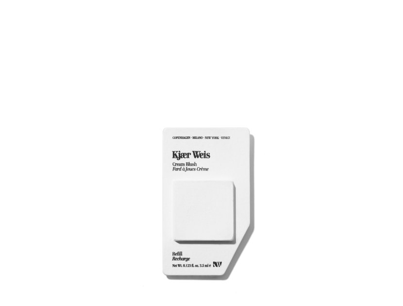 Kjaer Weis Cream Blush Refill in Desired Glow | Shop now on @violetgrey https://www.violetgrey.com/product/cream-blush-refill/KJW-RF12115