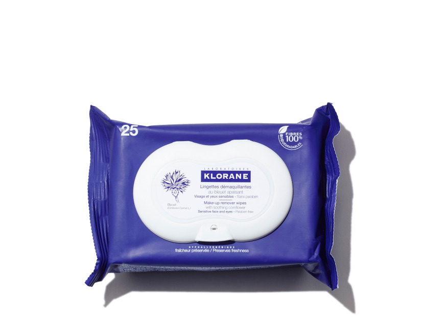 KLORANE Make-up Remover Wipes with Soothing Cornflower - 13.5oz | @violetgrey