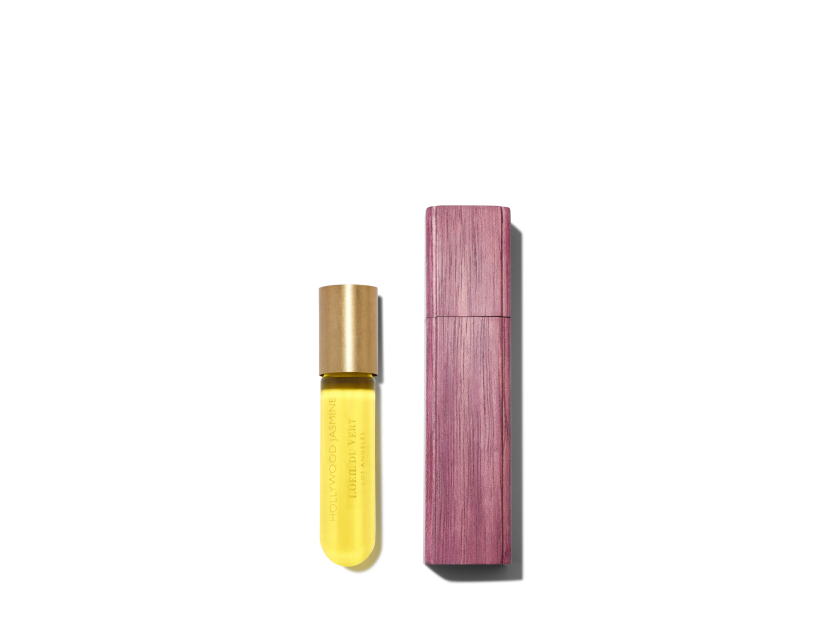 L'OEIL DU VERT Hollywood Jasmine Rollette & Wooden Bottle - .25 oz | @violetgrey