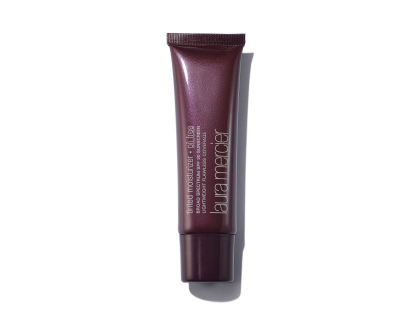 Laura Mercier Tinted Moisturizer Oil Free Broad Spectrum SPF 20 Sunscreen in Almond | Shop now on @violetgrey https://www.violetgrey.com/product/tinted-moisturizer-oil-free-broad-spectrum-spf-20-sunscreen/LMR-12345023