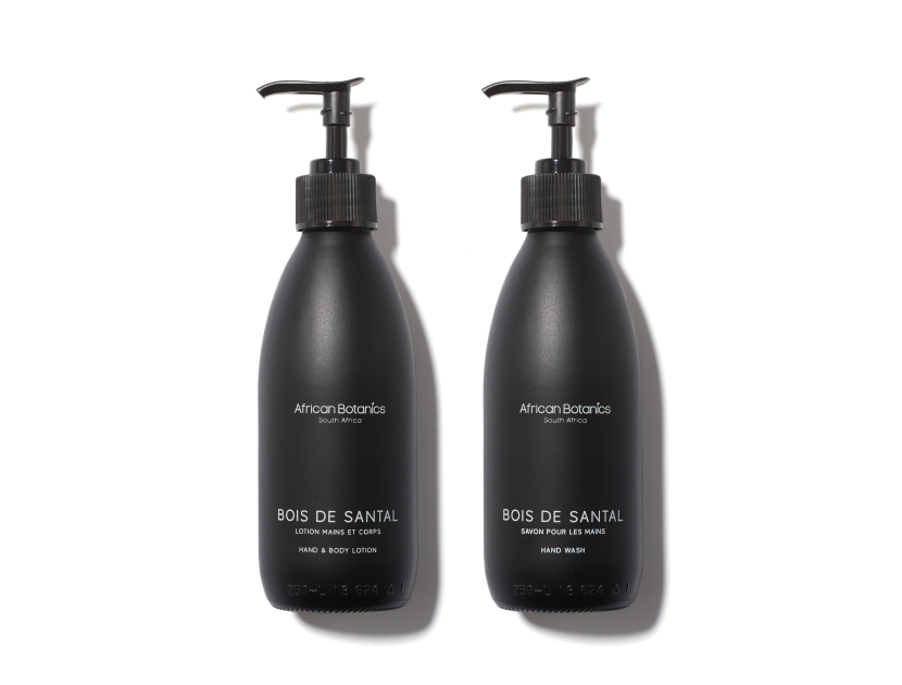 African Botanics - Bois De Santal Hand Wash & Lotion Set in 16.9oz