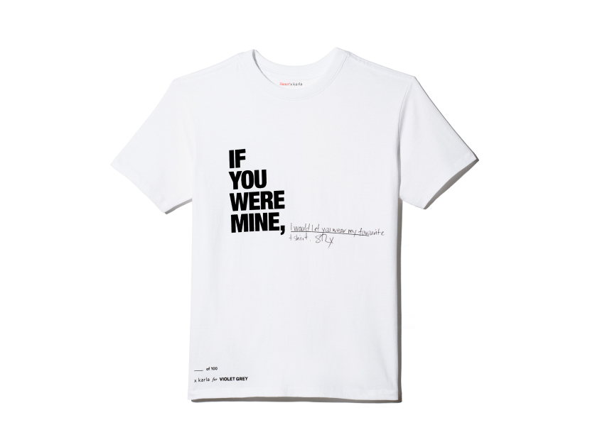 "X KARLA FOR VIOLET GREY The ""If You Were Mine"" Crew Customized - Large 