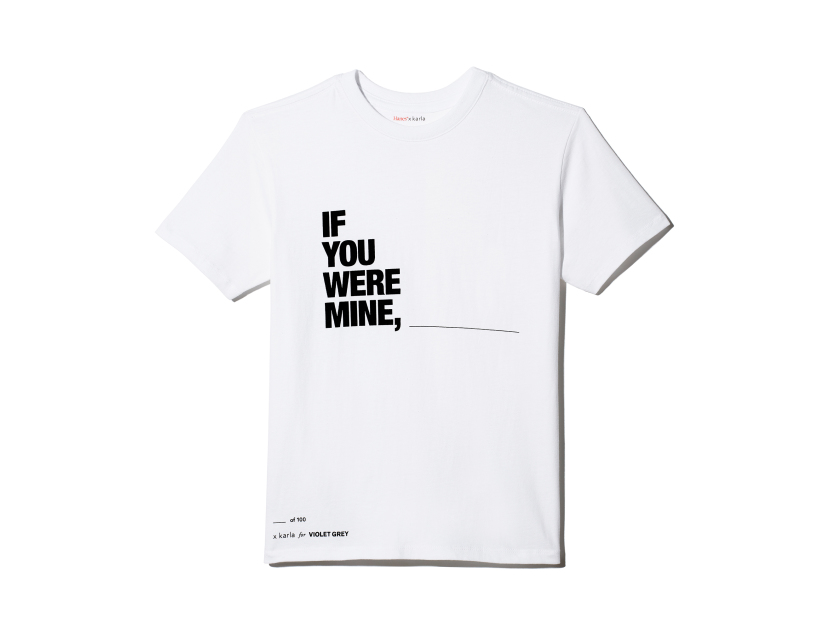 "X KARLA FOR VIOLET GREY The ""If You Were Mine"" Crew - Large 
