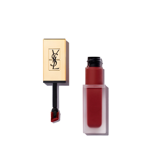 YVES SAINT LAURENT Tatouage Couture Liquid Matte Lip Stain - Black Code Red | @violetgrey