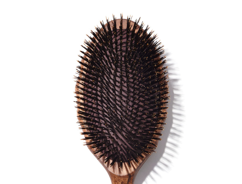 Y.S. PARK Tortoise Wood Air Vent Cushion Flat Eco Styler Hair Brush | @violetgrey