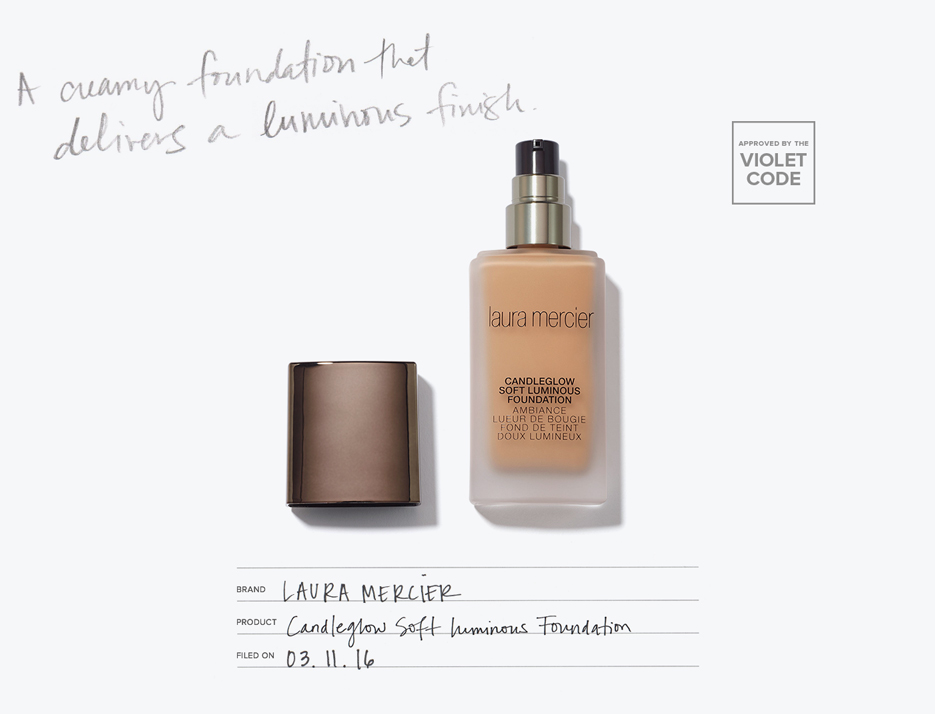 Laura Mercier Candleglow Soft Luminous Foundation | VIOLET GREY | @violetgrey