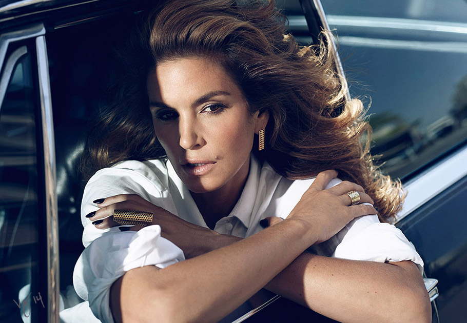 Cindy Crawford photographed by Emma Summerton for #VioletGrey  |  Makeup by Dotti  |  Hair by Serge Normant  |  Nails by Marisa Carmichael  |  Styling by Sally Lyndley