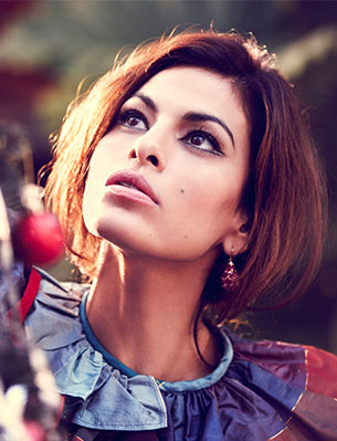 Christmas in Tinseltown starring Eva Mendes as Dolores Carmen for VIOLET GREY