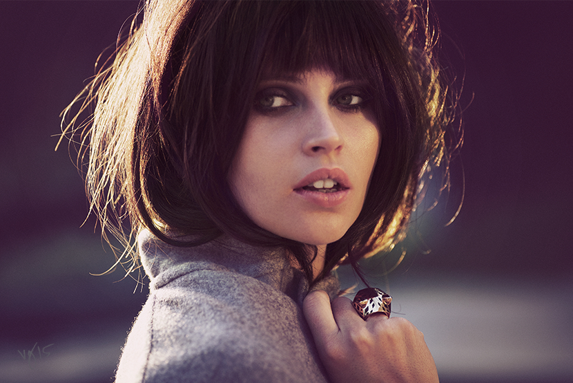 Felicity Jones photographed by Guy Aroch for VIOLET GREY  |  Makeup by Sabrina Bedrani  |  Hair by Alex Polillo  |  Nails by Debbie Leavitt  |  Styling by Karla Welch