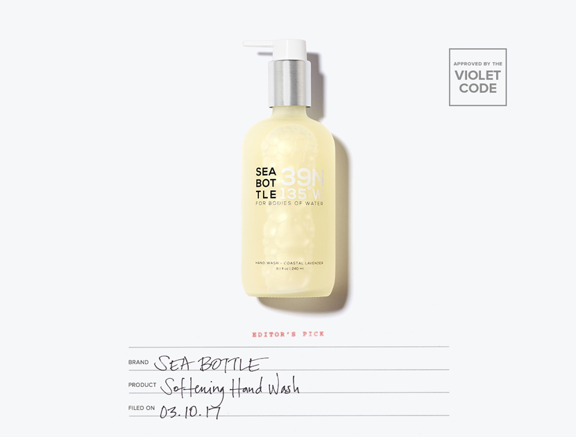 Sea Bottle Softening Hand Wash | The Violet Files
