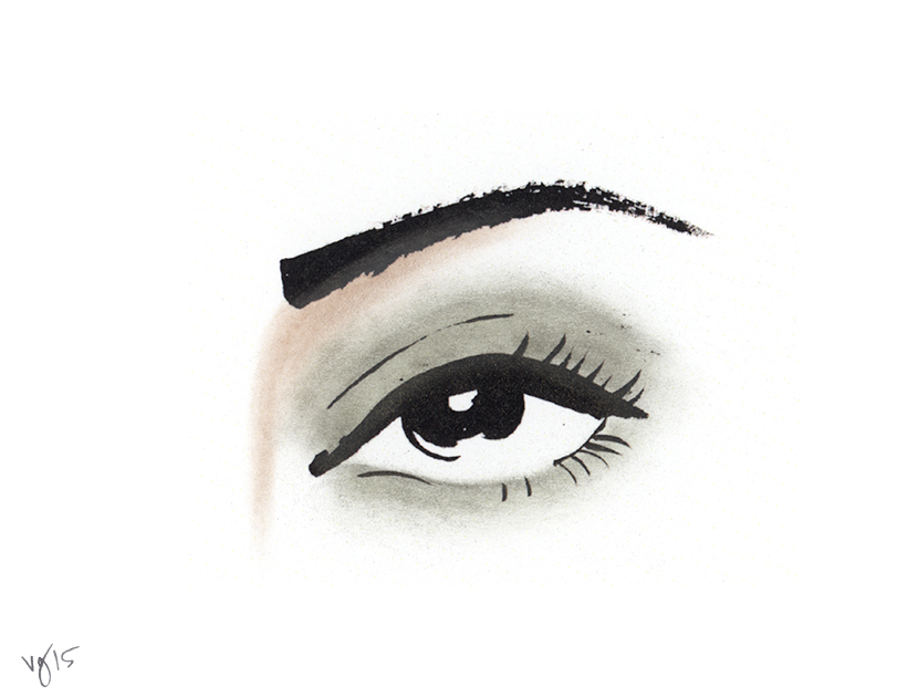 the almond shaped eyes of my grandpa Jason merritt/getty images entertainment/getty images a problem almond-shaped eye women often face is that we close our eyes when applying eyeshadow, and when you open your eye back up, your makeup has disappeared.