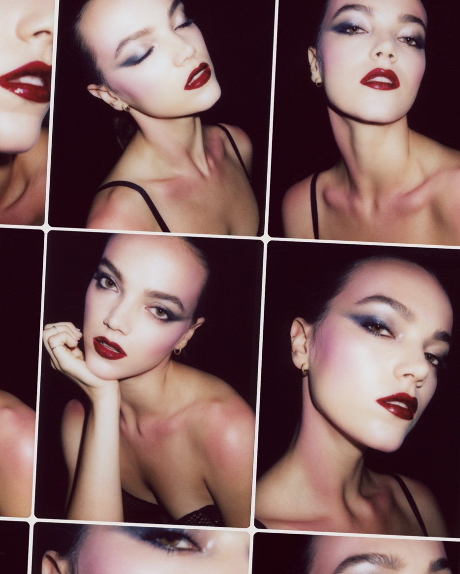 Beauty Test High Octane Glamour With Morgane Martini Violet Grey Frnd Cosmetics Uptown Girl Set Eyes Tom Ford Eye Color Quad Eyeshadow Palette In Starry Night Kjaer Weis Mascara Compact Black Lips Lancme Le Metallique Metallic Lip Lacquer 13