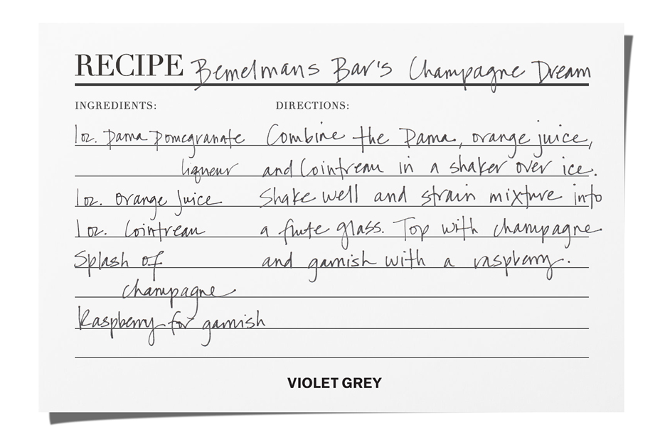 Bemelmans Bar's Champagne Cocktail | The Violet Files | @violetgrey